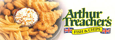 image of logo of Arthur Treachers franchise business opportunity Arthur Treachers Fish and Chips franchises Arthur Treacher Fish & Chips franchising