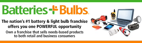 image of header of Batteries Plus Bulbs franchise business opportunity Batteries Plus Bulbs franchises Batteries Plus Bulbs franchising