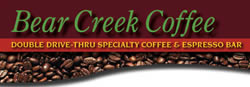 image of logo of Bear Creek Coffee franchise business opportunity Bear Creek Drive Thru Coffee franchises Bear Creek Drivethru Coffee franchising