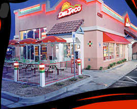 image of logo of Del Taco franchise business opportunity DelTaco franchises Del Taco Mexican restaurant franchising