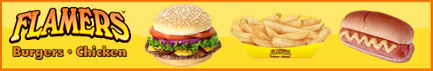 image of logo of Flamers franchise business opportunity, Flamers Burgers franchises, Flamers Chicken franchising, Flamers Burgers and Chicken franchise information