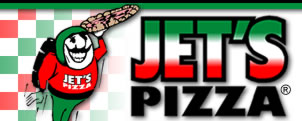 image of logo of Jet's Pizza franchise business opportunity Jet's Pizza franchises Jet's Pizza franchising
