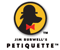 image of logo of Jim Burwell's Petiquette franchise business opportunity Jim Burwell's dog training franchises Jim Burwell's Petiquette franchising
